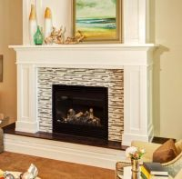 Raised Hearth Fireplace Mantel