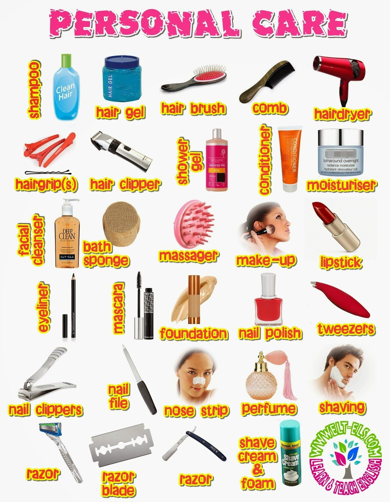 Personal Care Vocabulary