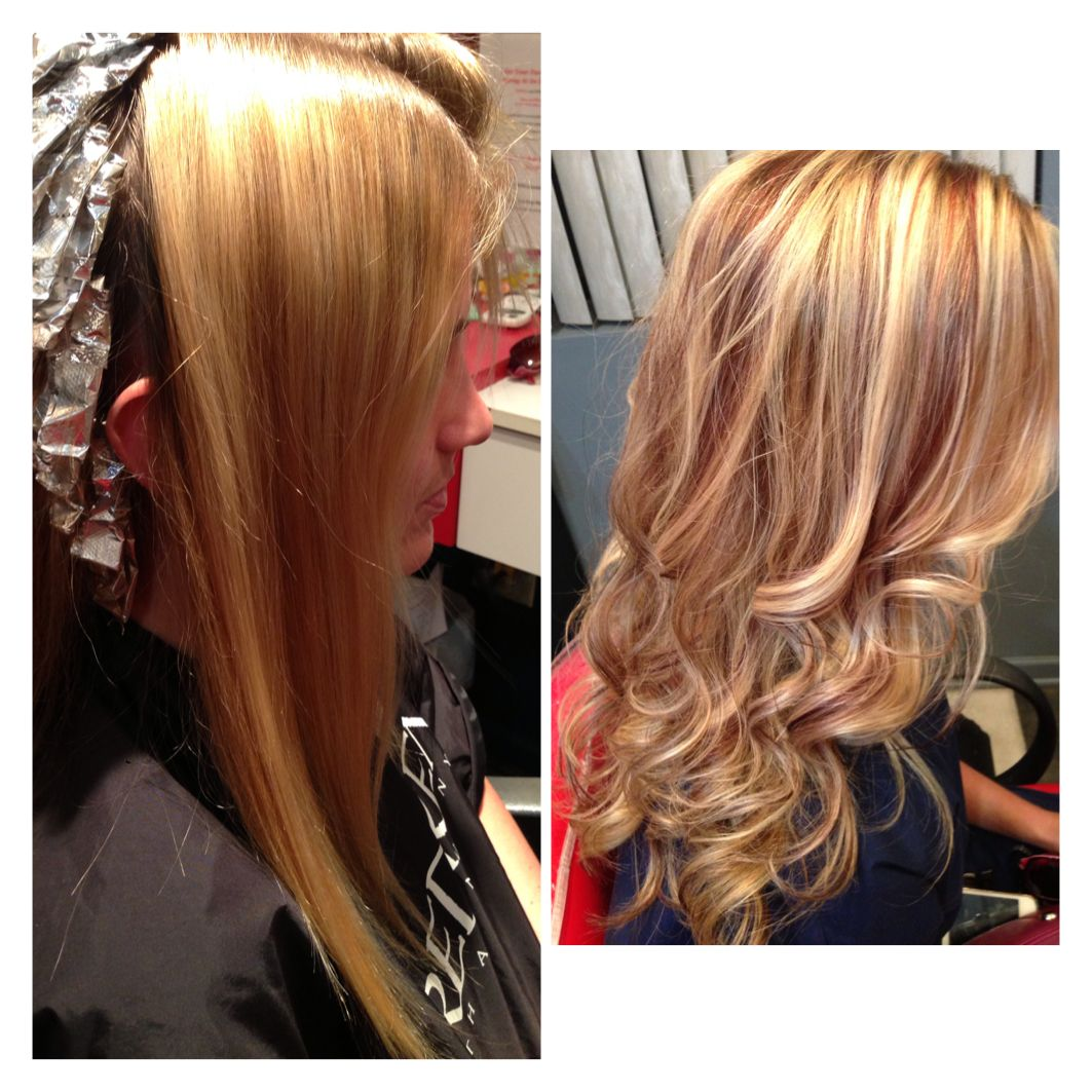 Blonde Highlights Red Lowlights
