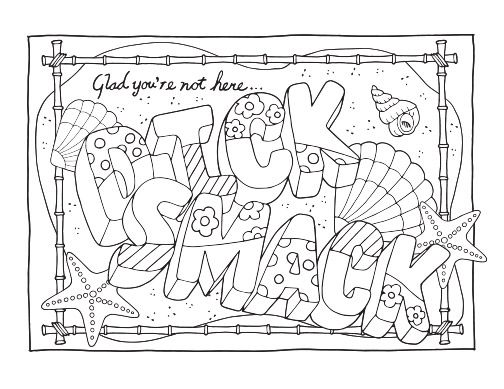 You may download these free printable swear word coloring