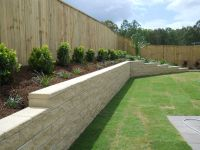 inground pool with retaining wall | GC Landscapers | Pool ...