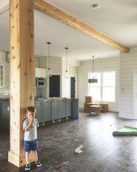 Support beam wrapped in cedar   Interior Barn Doors ...