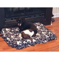 No sew dog bed! Had extra thin fleece material from a ...