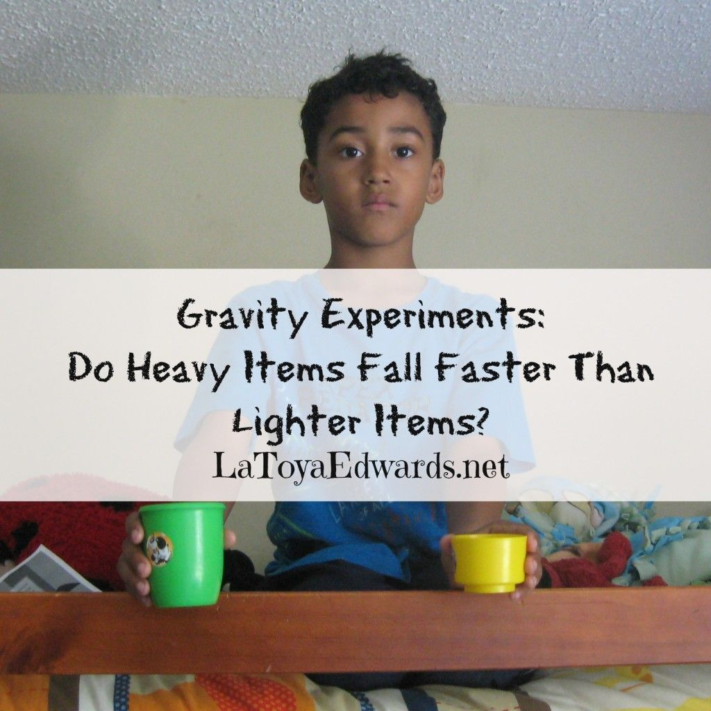 A Lesson On Gravity Do Heavy Items Fall Faster Than