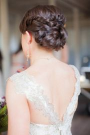 gorgeous bridal twisted and braided