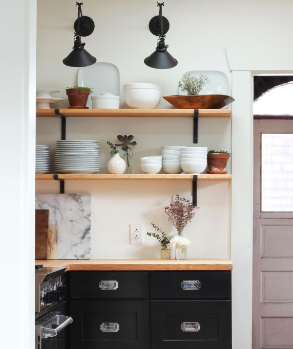 Apartment Therapy Kitchen Shelves