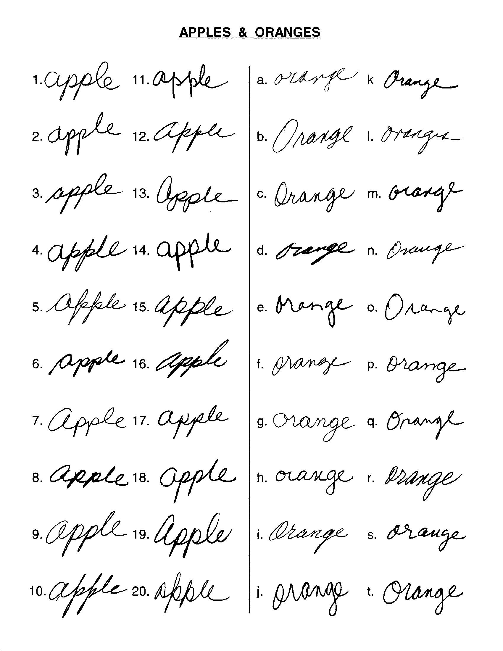 Handwriting Comparison