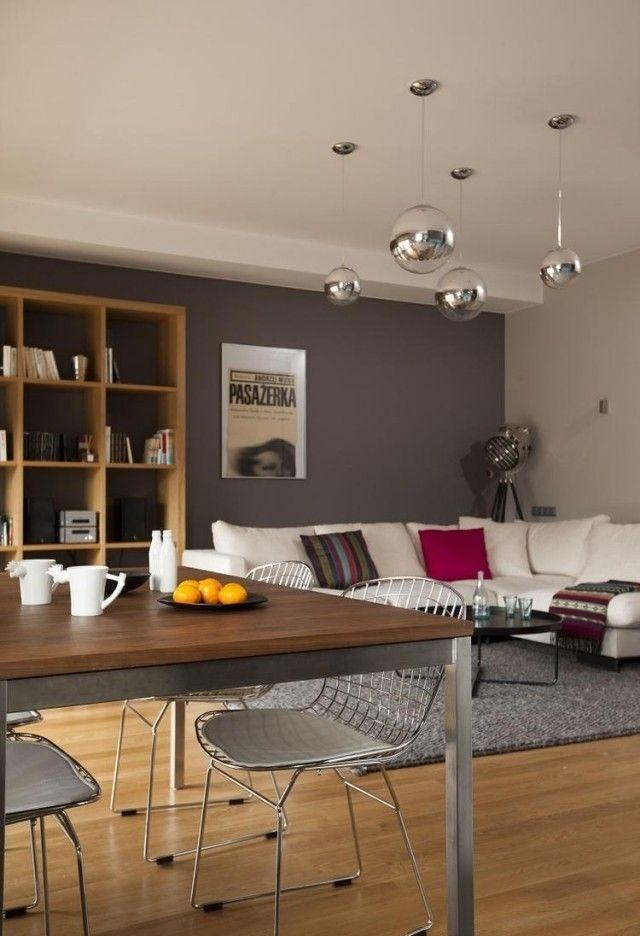 wohnzimmer deko grau ideen fuers wohnzimmer streichen farbe mit ... - Wohnzimmer Deko Holz
