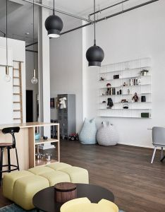 Scandinavian living room with open kitchen also interior design rh pinterest