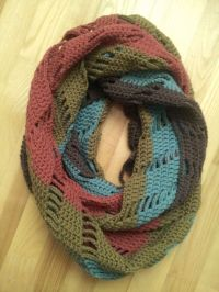 Crochet infinity scarf JOLITA by NerriPango on Etsy ...