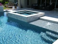 Raised Outdoor Spa | Infinite Edge | Square Spa | Hot Tub ...