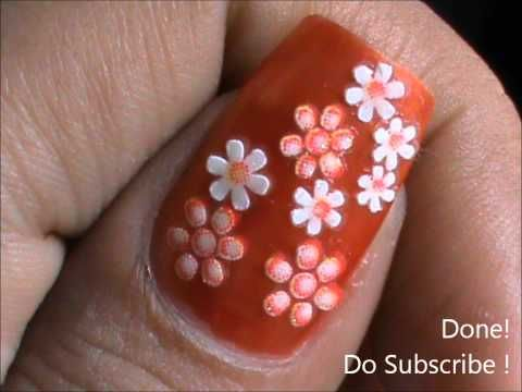 Easy FlowerNail Art To Do At Home Nail Designs For Beginners DIY
