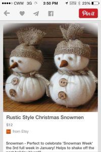 Diy Christmas snowmen . Made out of two Christmas ...