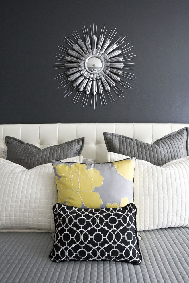 Literarywondrous Shades Of Grey Bedroom Contemporary Design Ideas With Bed Pillows Dark Walls Decorative