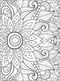 Adult Coloring Pages: Flowers 2-2   Adult Coloring Pages ...