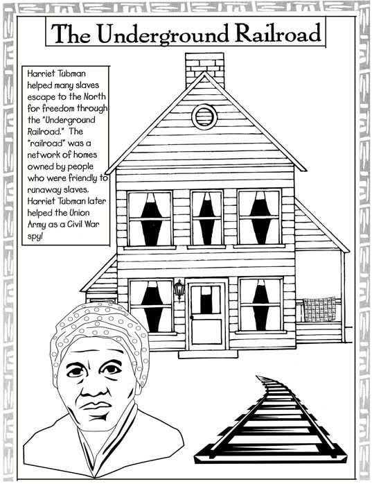 Black History Coloring Pages: Harriet Tubman/Jackie