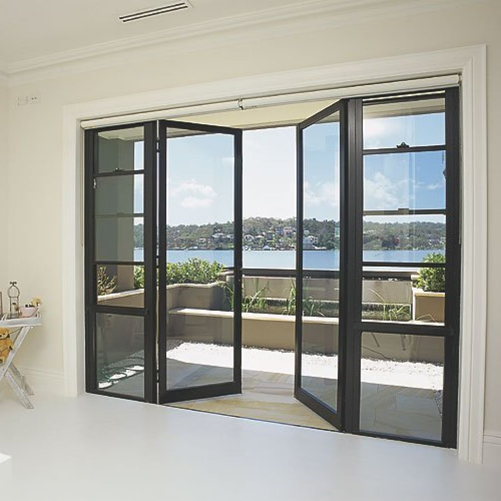 Modern French Door With Solid Steel Thin Frame For Easily