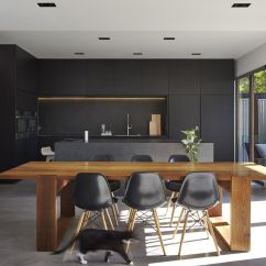 Black Kitchen Islands Cabinets Long Island Minimal Design Blog Minimalist