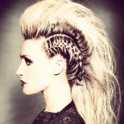 blonde braid mohawk hair style