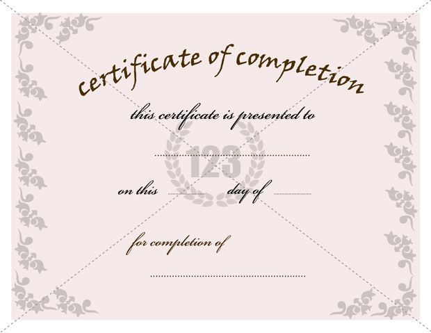 Most valuable Certificate of Completion Template for Free