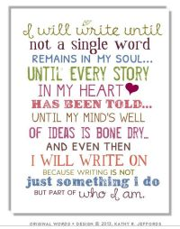 I Will Write Typography Print Motivational Wall Art ...