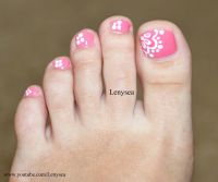 Easy Lace Toe Nail Art Design | Toe nail design ...