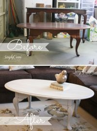 Painted Coffee Table - Antique Grey Coffee Table ...