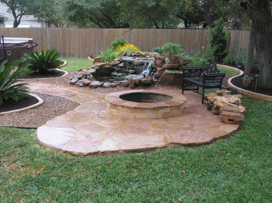 Fire Pit Landscaping With Tile Paths Fire Pit Landscaping