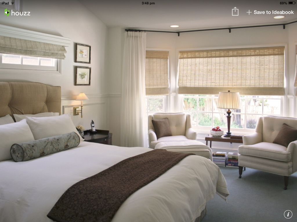 Master bedroom curtains - From Houzz Sheer Curtains Over Blinds For Master Bedroom Mount