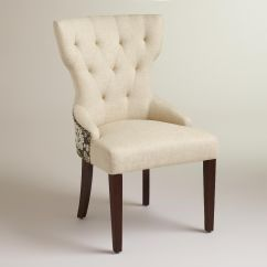 World Market Maxine Chair Cane Occasional Chairs Black Floral And Linen Dining Upholstery