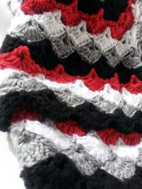 Incredibly Soft Afghan Throw Blanket in Red Black Grey and ...