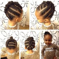 Simple cornrows style | Beauty: Girls Braids | Pinterest ...