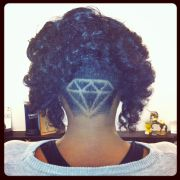 diamond haircut design fade