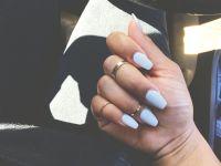 Short coffin nails. Midi rings. Instagram | styleme.b | N ...