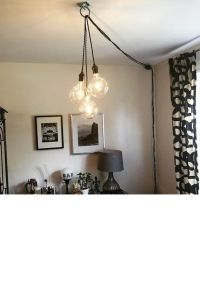 Unique Chandelier PLUG IN Modern Hanging Pendant Lamp ...