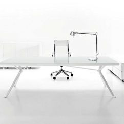 Modern White Office Chairs Tall Back Accent Designer Furniture Executive Danny