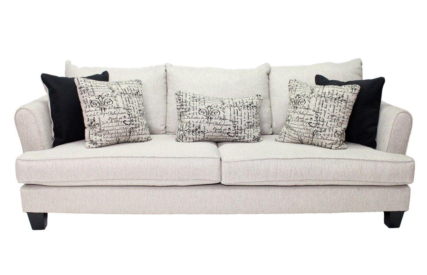 Mor Furniture for Less  Rachael Omega Mist Sofa  Sofas