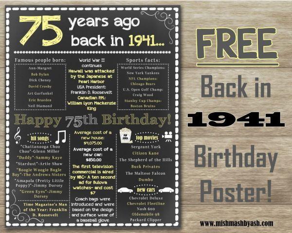 Happy 75th Birthday Decorations