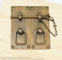 Vintage Solid Brass Retro Drawer LATCH Cabinet LATCH Door