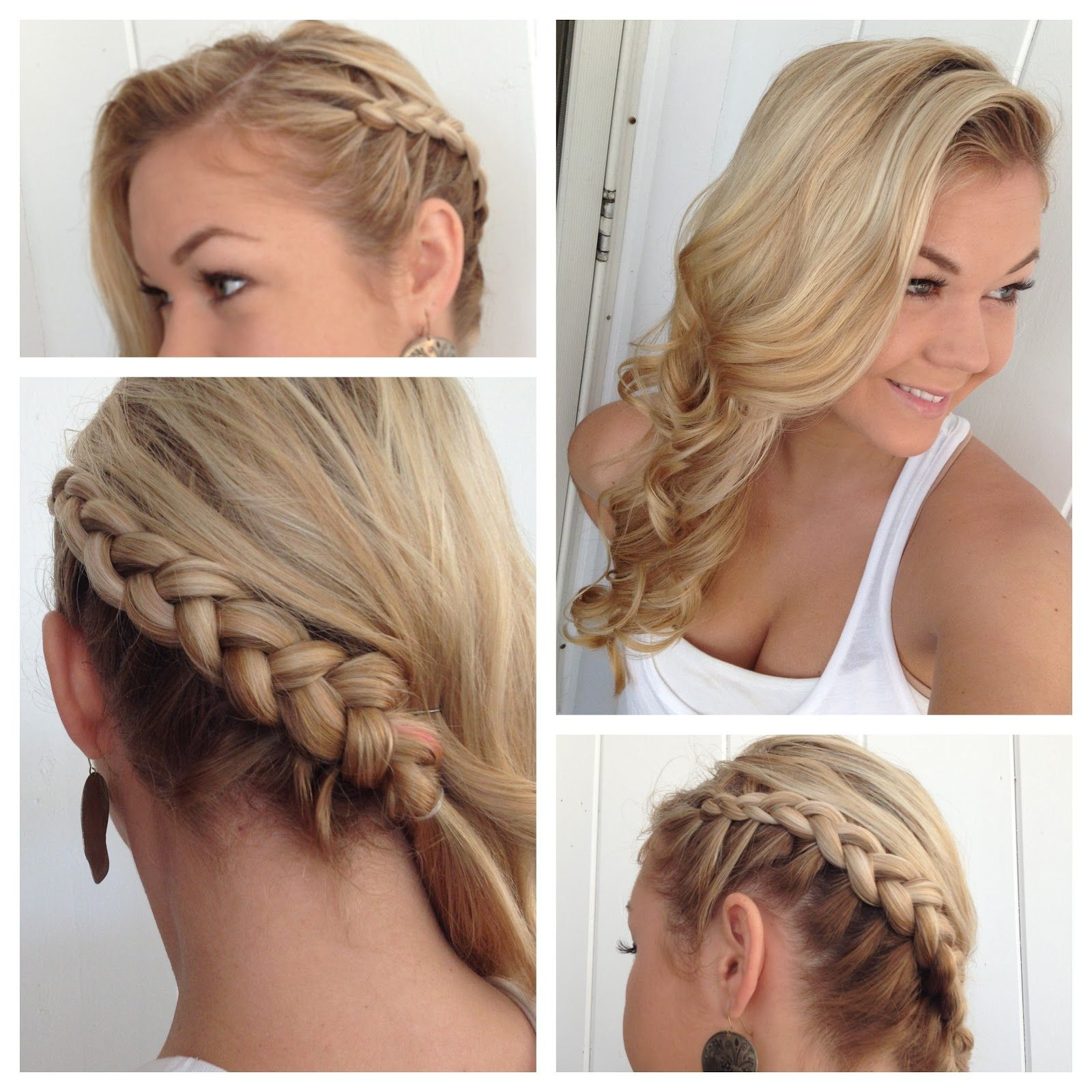 Side Braid Hairstyles Side Braid With Classic Curls Hair