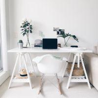 Ikea 'Finnvard' desk @cyliaherbertson | Workspace & Studio ...