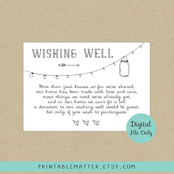Wishing Well Wording Ideas
