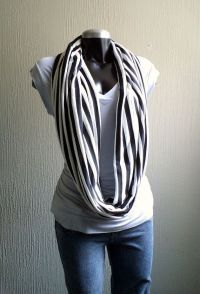 black & white infinity scarf. | Fashion | My Make-Believe ...