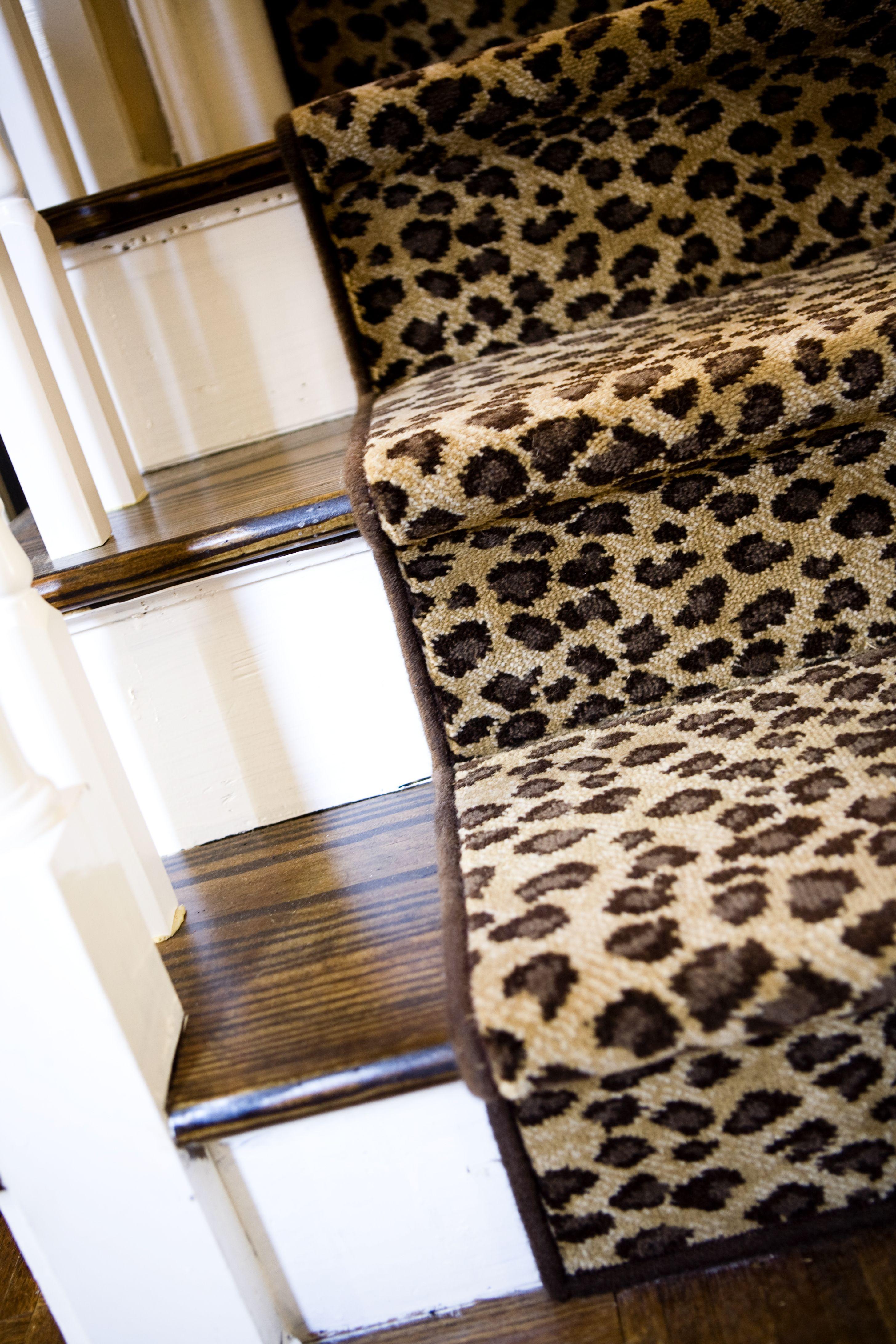 Superieur Jill Norwoodu0027 Cheetah Print Stair Runner  Stairs