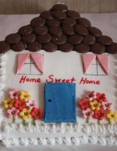 Cute house cake for housewarming into sculpted fondant pinterest and also rh