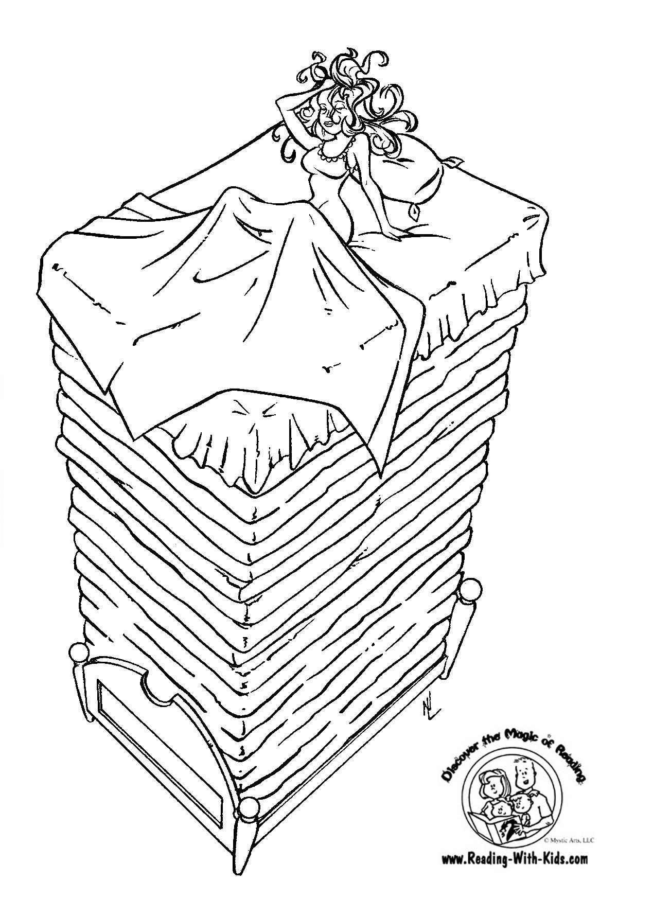 Fairy Tales Coloring Pages The Princess And Pea Page Fairy