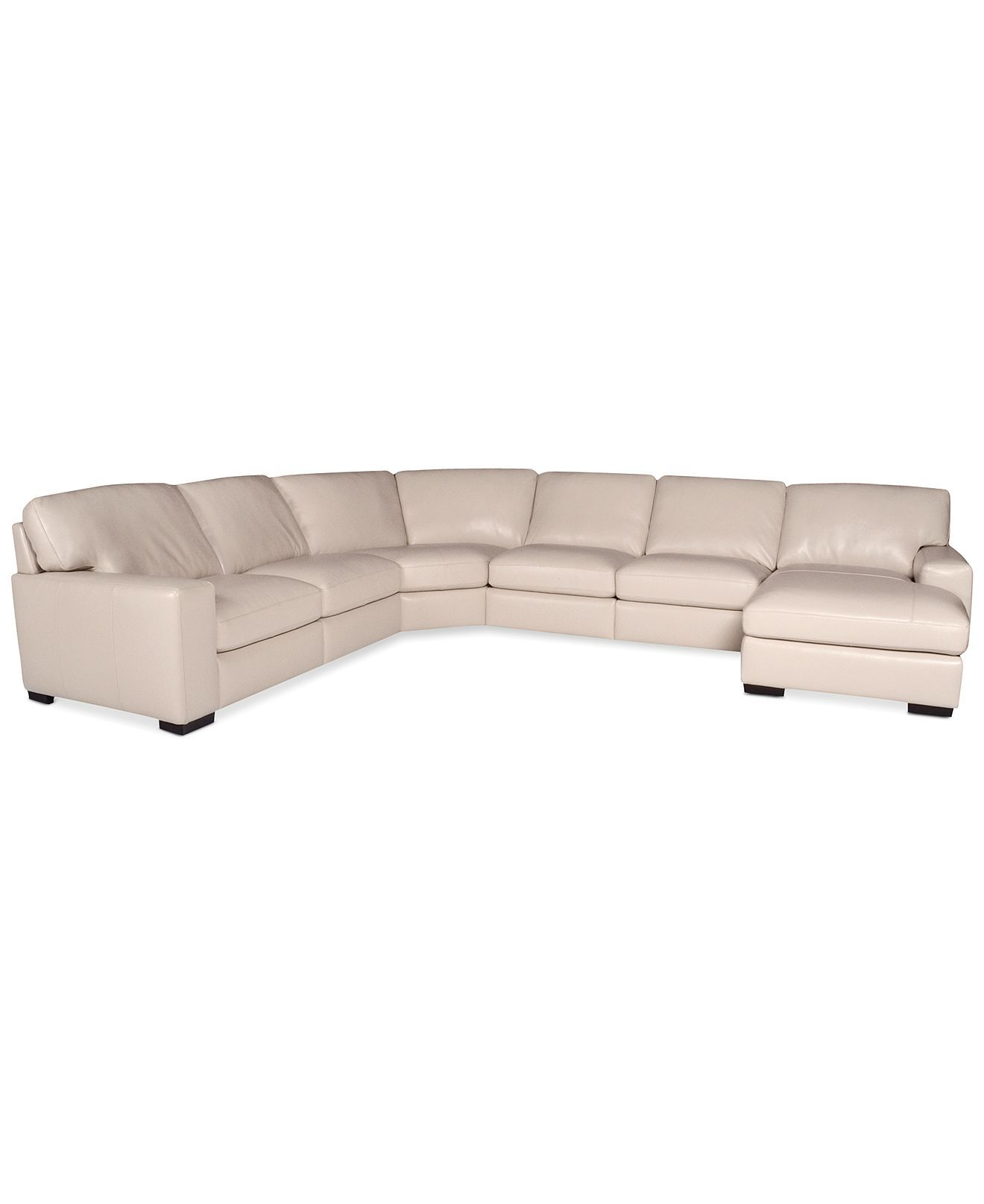 martino leather chaise sectional sofa 2 piece apartment and crate barrel in oyster fabrizio 6