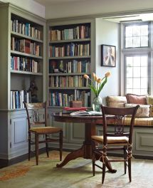 Home Office Library with Window Seat