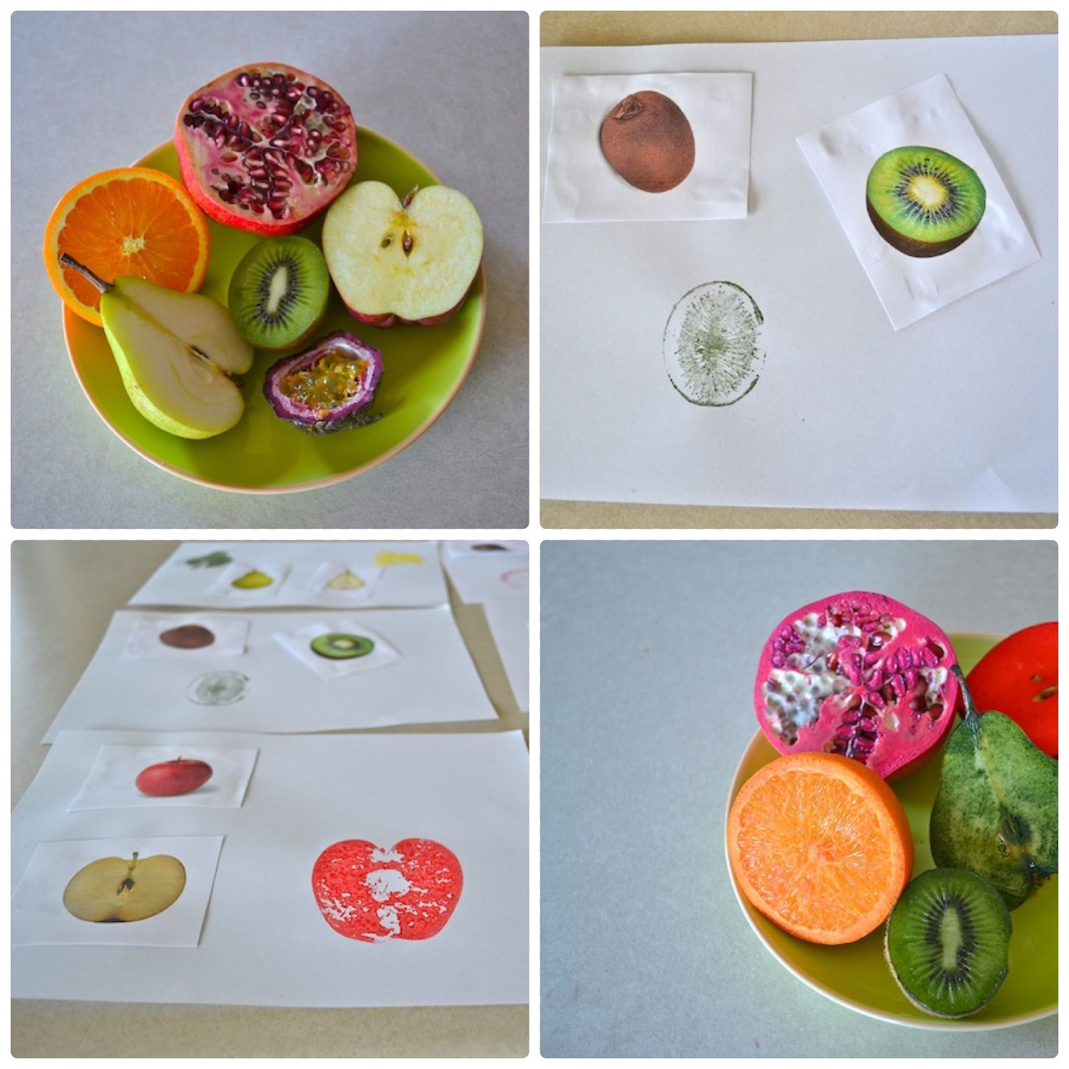 Montessori Toddler Art Extention Using Vocabulary Matching Cards And Real Fruit Once The Cards