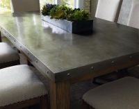 Riverton Stainless Steel Top Dining Room Table Set By ...